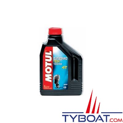 Huile technosynthése Motul Outboard TECH 4T  SAE 10W40 pour moteur essence - 2 litres
