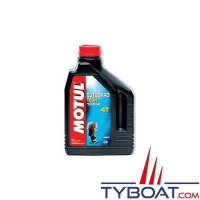 Huile technosynthèse Motul Outboard TECH 4T  SAE 10W40 pour moteur essence - 5 litres
