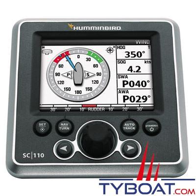 Humminbird - Pack pilote automatique SCP110 - Pupitre couleur + Calculateur 30A +Capteur d'angle de barre + Compas