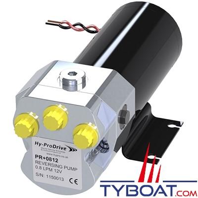 Hy-ProDrive - Pompe hydraulique réversible PR+08 12 - 12 Volts - 0,8 Litre/Minute