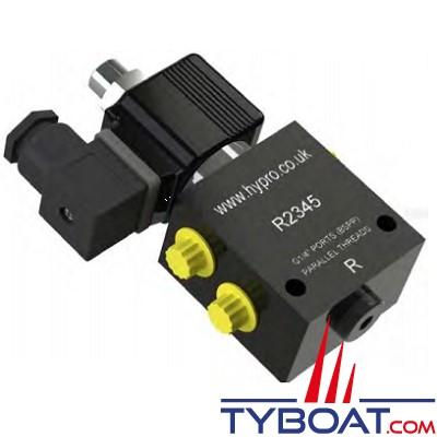 Hy-ProDrive - Electro-vanne avec clapet pour pilote automatique - Raccords G1/4 - 24 Volts