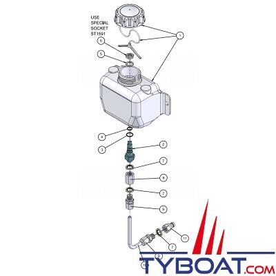 Hy-ProDrive - Kit purge pour vérins ML40 / ML+40 / ML40+