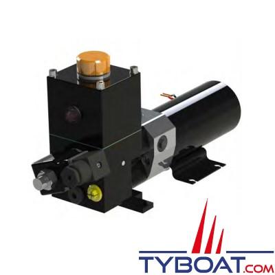 Hy-ProDrive - Pompe hydraulique réversible PR+06 12 RU avec réservoir et embrayage - 12 Volts - 0,6 Litre/Minute