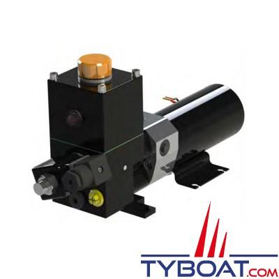Hy-ProDrive - Pompe hydraulique réversible PR+10 12 RU avec réservoir et embrayage  - 12 Volts - 1,0 Litre/Minute