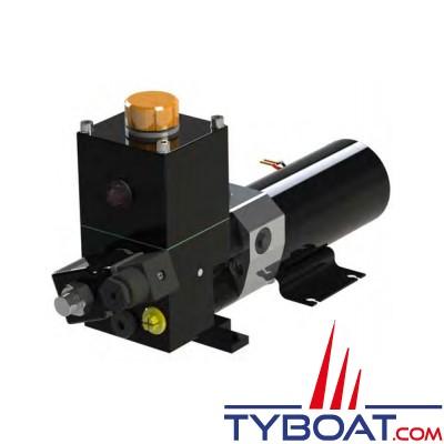 Hy-ProDrive - Pompe hydraulique réversible PR+15 12 RU avec réservoir et embrayage - 12 Volts - 1,5 Litres/Minute