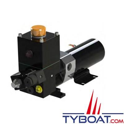 Hy-ProDrive - Pompe hydraulique réversible PR+15 24 RU avec réservoir et embrayage - 24 Volts - 1,5 Litres/Minute