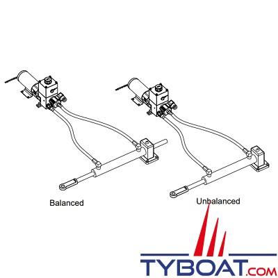 Hy-ProDrive - Pompe hydraulique réversible PR+20 24 RU avec réservoir et embrayage - 24 Volts - 2,0 Litres/Minute