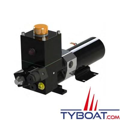 Hy-ProDrive - Pompe hydraulique réversible PR+25 12 RU avec réservoir et embrayage - 12 Volts - 2,5 Litres/Minute