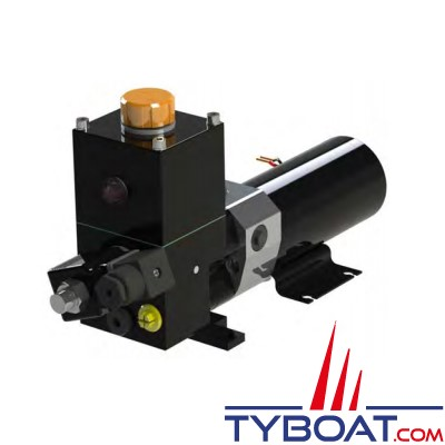 Hy-ProDrive - Pompe hydraulique réversible PR+25 24 RU avec réservoir et embrayage - 24 Volts - 2,5 Litres/Minute