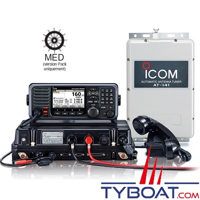 Icom - BLU marine GMDSS MF/HF ASN Classe A - Version Pack MED (Wheel Mark)