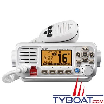 ICOM - VHF marine fixe IC-M330GE Classe D ASN avec GPS intégré - IPX7 blanche