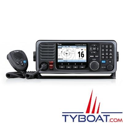ICOM - VHF marine fixe IC-M605 Euro Classe D avec ASN IPX8 avec récepteur AIS et GPS intégré (NMEA2000)