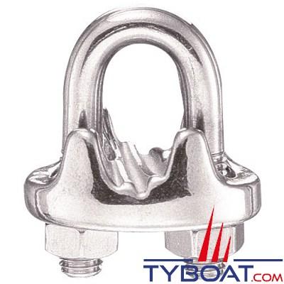 IMNASA - Serre-câble étrier inox 5 mm - 2 pièces