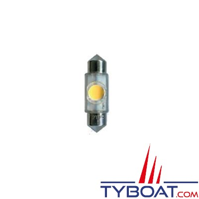 Ampoule navette 1 LED 12V 11x35 mm 1W