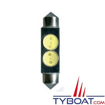 Ampoule navette LED blanche 12V 14x42 mm 4W (x2)