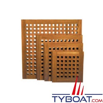 Caillebotis en teak - Douche ou plancher - 400 X 400 millimètres