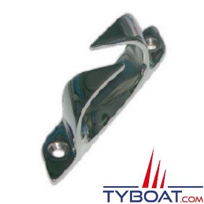Chaumard croisé inox longueur 114 mm pour cordage Ø 17 mm  bâbord