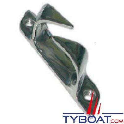 Chaumard croisé inox longueur 114 mm pour cordage Ø 17 mm tribord