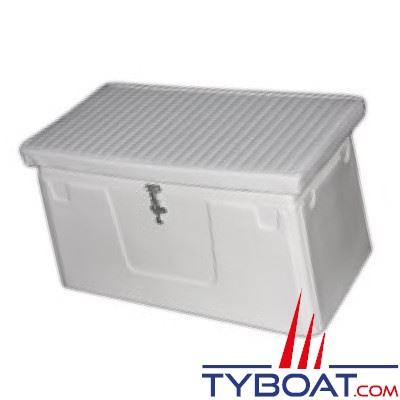 Coffre blanc 900 x 400 x 370 mm charnières piano
