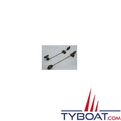 Compas télescopique nylon pour hublot longueur 250-480 mm