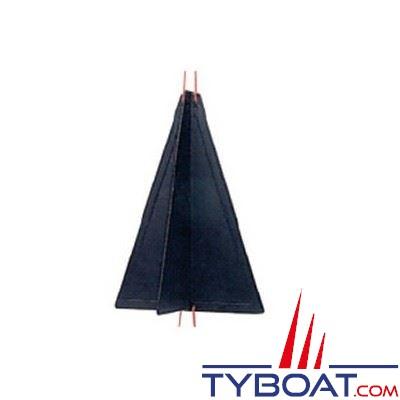 Cône de signalisation noir hauteur 470mm