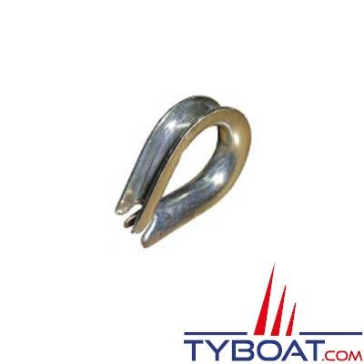 Cosse coeur inox pour câble Ø22mm
