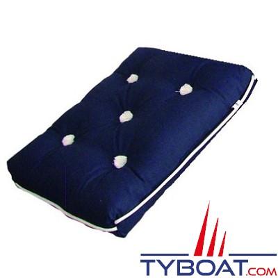 Coussin en kapok - Bleu navy - 440 x 360 x 80