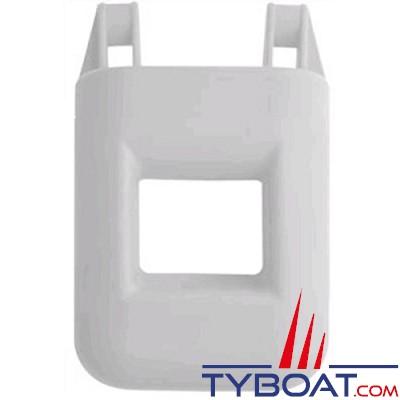 Echelle de bain pare-battage - 1 marche - 30x30x12cm - PVC gris -