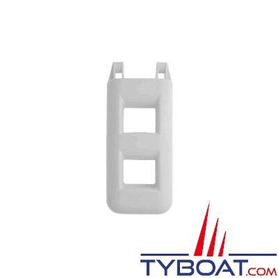 Echelle de bain pare-battage - 2 marches - 55x30x12cm - PVC gris -