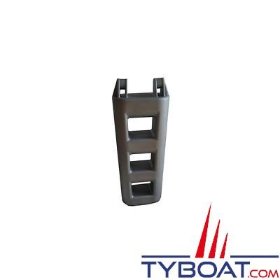 Echelle de bain pare-battage - 3 marches - 75x30x12cm - PVC gris -