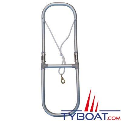 Echelle spéciale pneumatiques aluminium anodisé Hauteur 900 mm + corde avec mousqueton