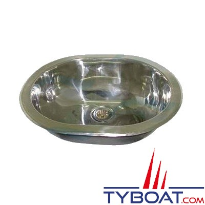 Évier inox ovale 360 x 280 mm