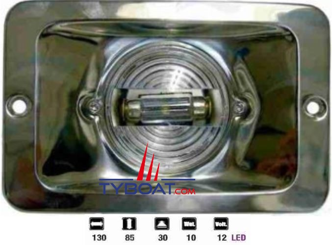 Feu de poupe en inox LED 12V 10W