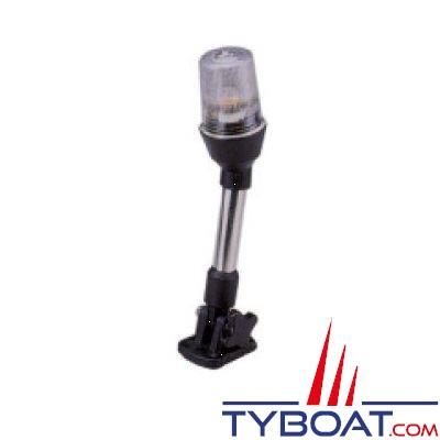 Feu tout horizon sur support pliable -hauteur 762cm- 12V 10W