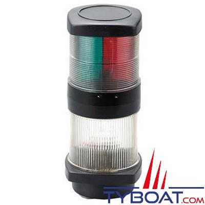Feux de navigation tricolore + mouillage - Tête de mât - Led - 12 Volts