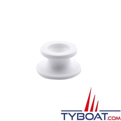 Fixation plastique pour taud ou capote - Ø 12 mm - Blanc