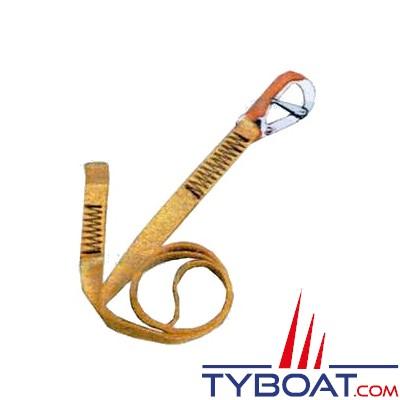 Longe simple pour gilets gonflables et harnais 1 mousqueton double sécurité - longueur 190 cm.