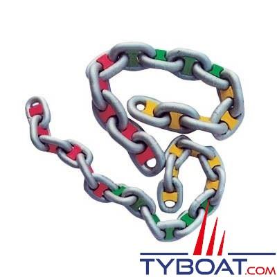 Marqueurs de chaîne Rouge pour chaîne Ø 6mm 14 pièces