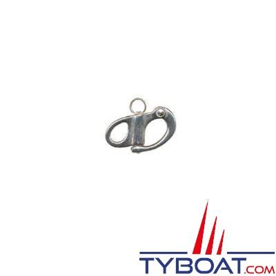 Mousqueton de drisse inox 316 mm à oeil fixe longueur 52mm