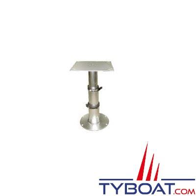 Pied de table amovible triplex aluminium pour tables et lits Ø base 300mm hauteur max 715mm