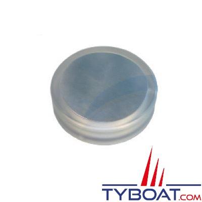 Plafonnier à LED plastique et inox Ø 70 mm en saillie