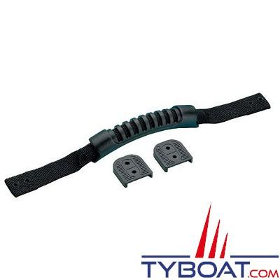 Poignée flexible - Nylon - 38 cm - Noire