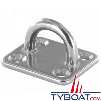 Pontet sur platine - Inox - Ø5 mm - 35 x 30 mm