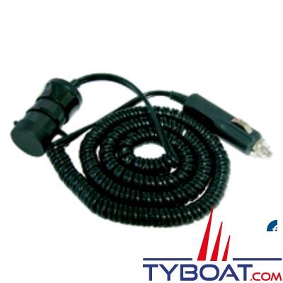 Rallonge prise allume-cigare 12V - 10A longueur 0,75m