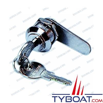 Serrure batteuse  Ø 22mm x long. 35mm avec clé