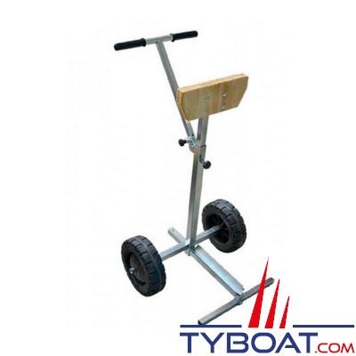 Support moteur en acier galvanisé avec roues