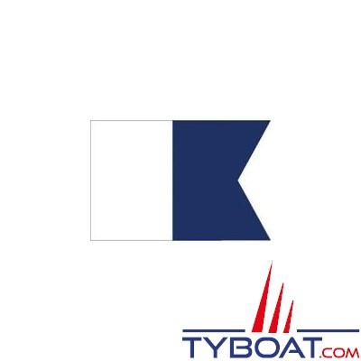 TYBOAT - Pavillon Alpha de plongée - toile - 45x30 cm