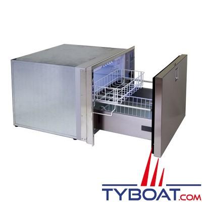 Indel Marine - Congélateur + machine à glaçons 1 tiroir - 70 litres Clean Touch - Drawer DR70CT F  inox - 230 VAC