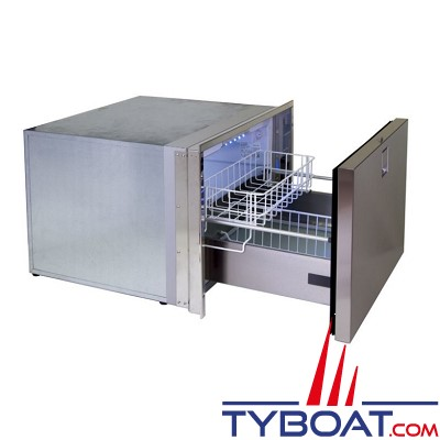 Indel Marine - Congélateur 1 tiroir - 70 litres Clean Touch - Drawer  DR70CT F  inox - 12/24 volts