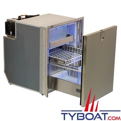 Indel Marine - Réfrigérateur 1 tiroir - 85 litres freezer + porte-bouteille -  Drawer DR85 inox
